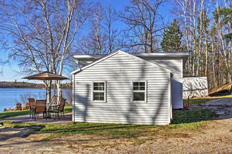 You're in for a treat when you reserve this charming lakefront Pine River vacation rental cabin