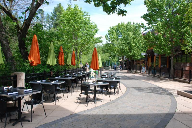 Lovely restaurants along the creek...