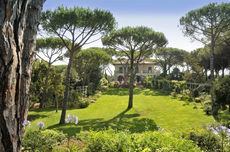 Villa and garden view
