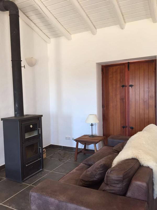 Seating area around the traditional woodburner