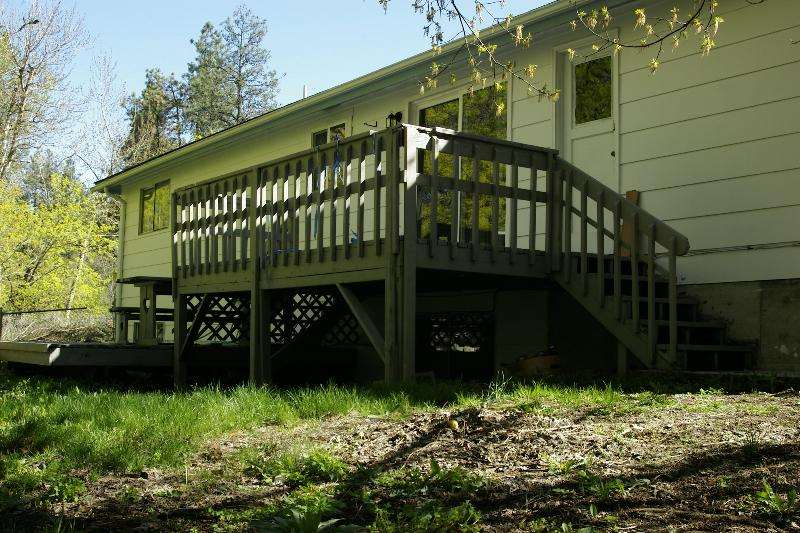 Deck in the spring