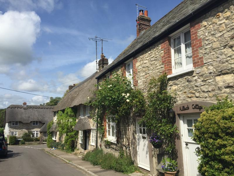 Street view of Melcombe Cottage and neighbours