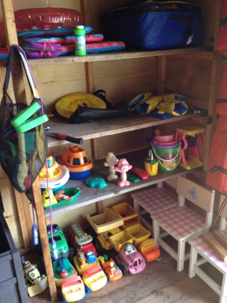 Toy shed for beach