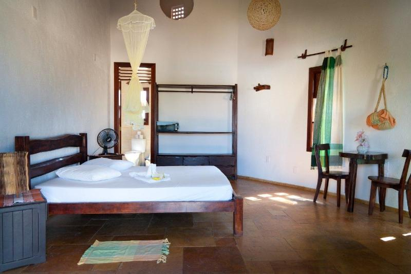 All large rooms have a size of about 25m2 incl. mosquito nets, mini bar & hammocks !