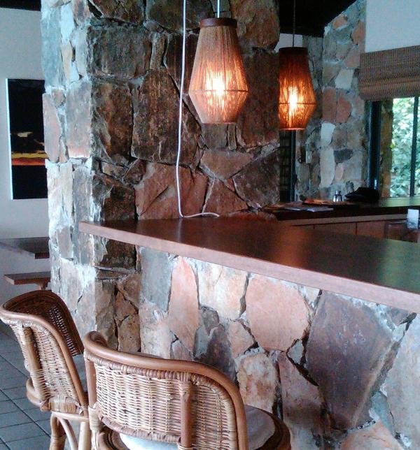 Bar area for evening cocktails