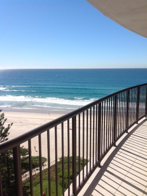 From the 11th level you have uninterrupted views of the sand and waves.