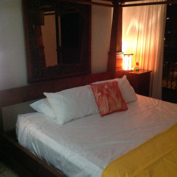 master bedroom in evening mode.