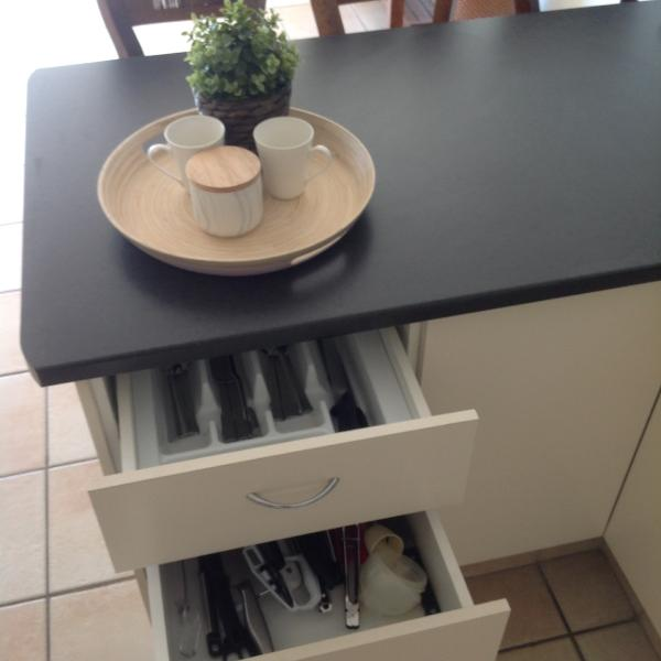 Cutlery and coffee tray.