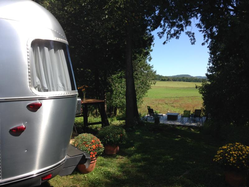 Infinity view from the Airstream