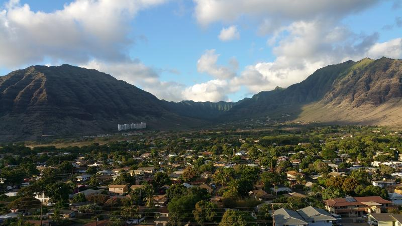 Makaha Valley, view from the back of the Condo.