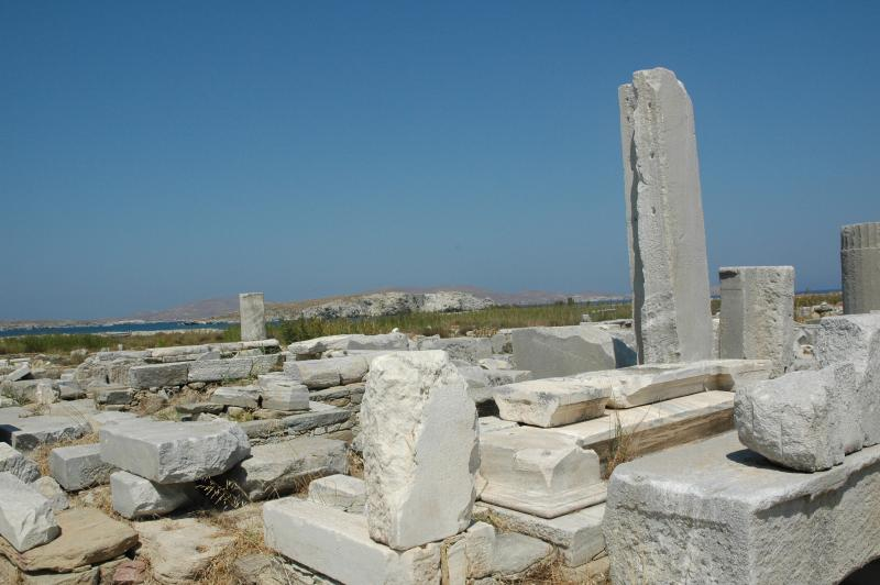 Delos island, the biggest antic site is closed to Tinos island