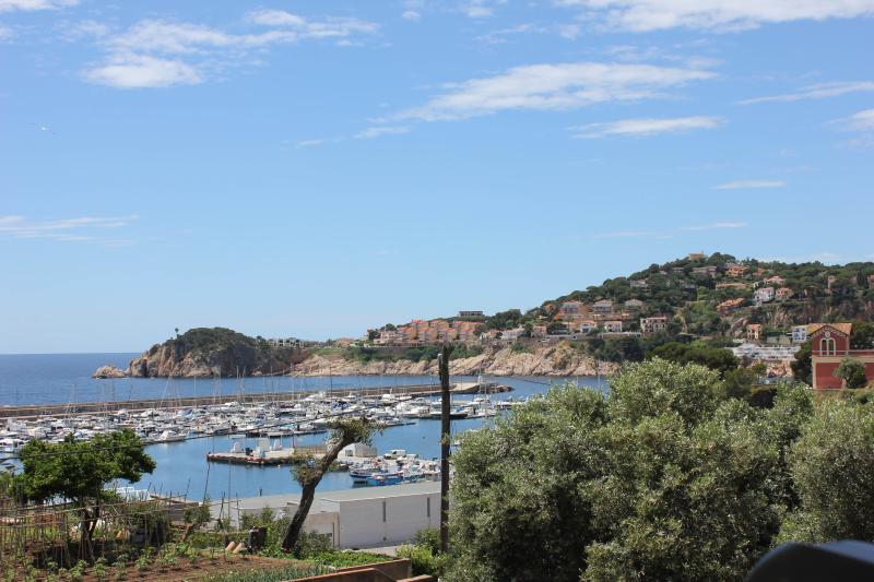 The view from the spacious balcony across Sant Feliu Marina and Bay...