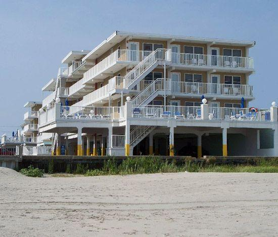 The Summer Sands Condo complex on the beach