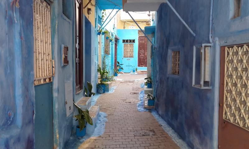 street in the Kasbah where house is located