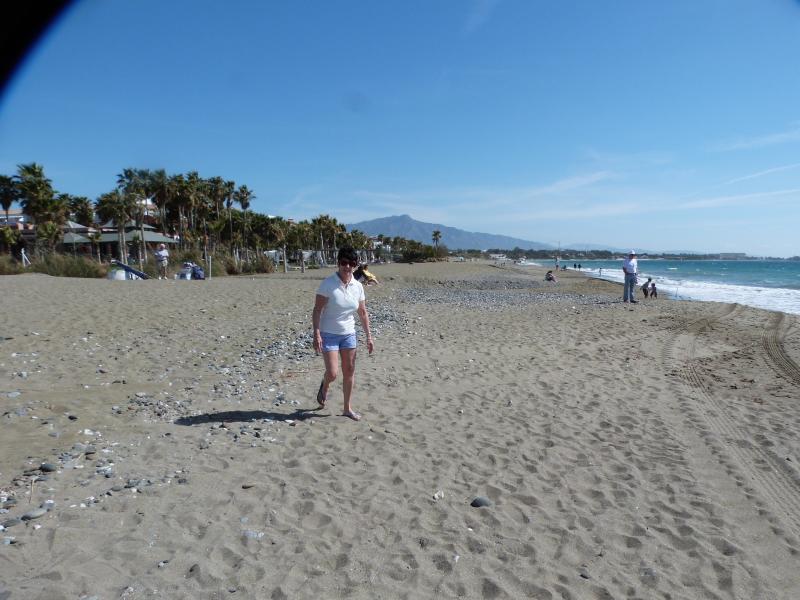 La playa, muy tranquila.