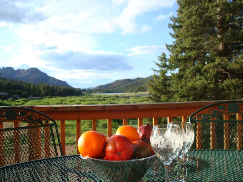 BEAUTIFUL PANORAMIC MOUNTAIN VIEW FROM THE DECK