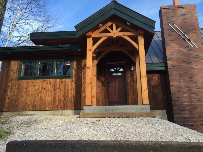 new timber frame entrance with huge storage room