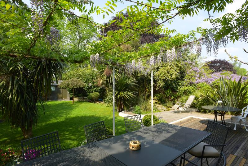 Secluded south facing, spacious garden