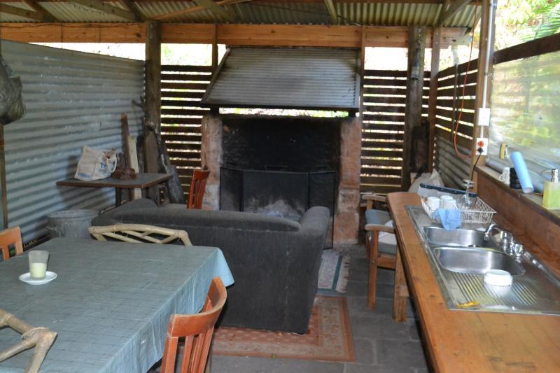 Communal area fireplace