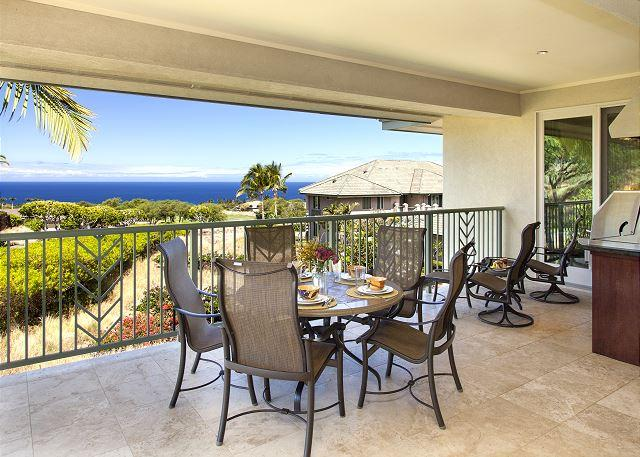 Wai'ula'ula D201-OCEAN VIEWS/PLATINUM GOLF RATES, BBQ, FREE WIFI, TV with DVR, vacation rental in Kawaihae