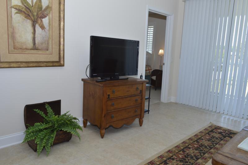 Flat-screen TV in living area