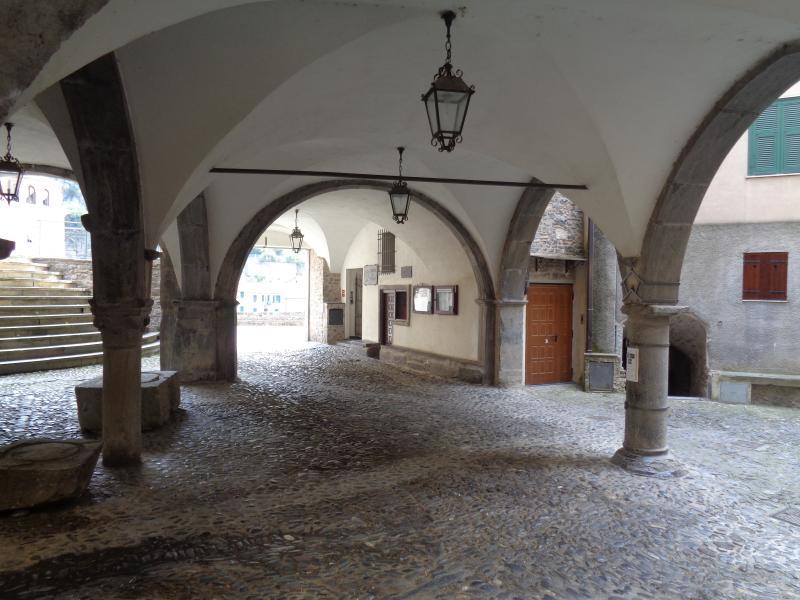 The loggia from the XV century  in Pigna (Nervia valley), 21 kilometers from Ventimiglia.