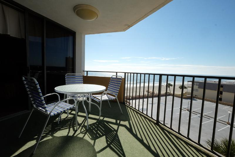 Spacious private oceanview balcony