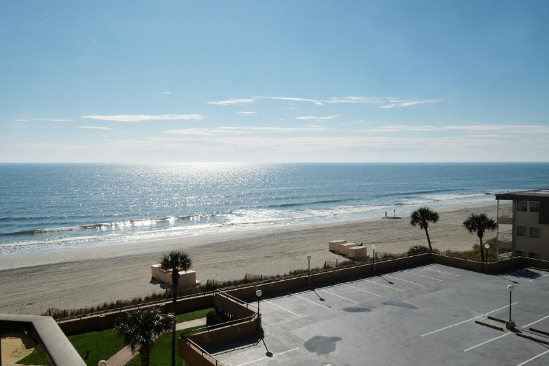 Awesome beach views from the balcony!