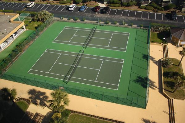 Tennis courts available