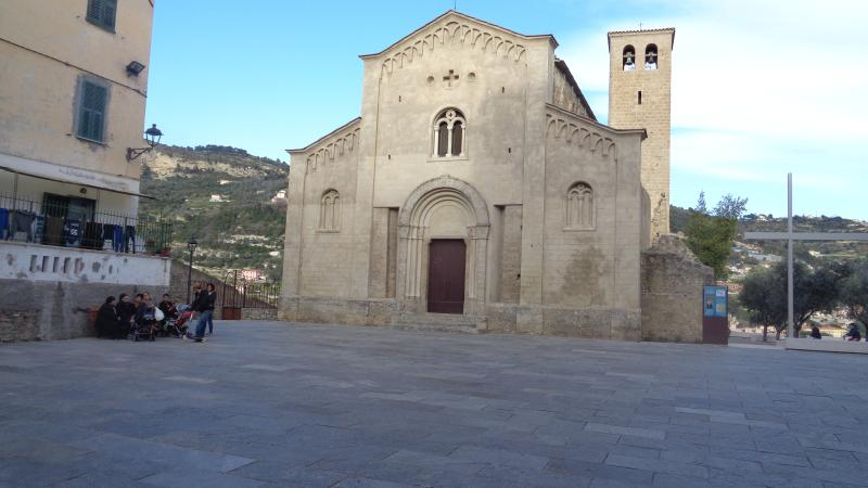 The San Michele church constructed in the 10th C by the Counts of Ventimiglia