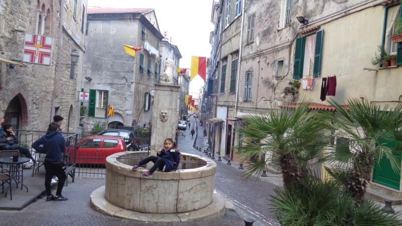 Via Garibaldi, the main street in Ventimiglia Alta.