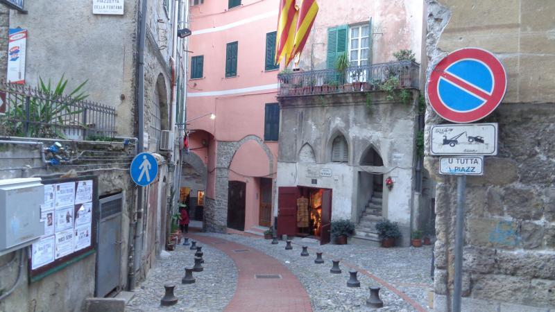 The street leading to the house from Corso Garibaldi.