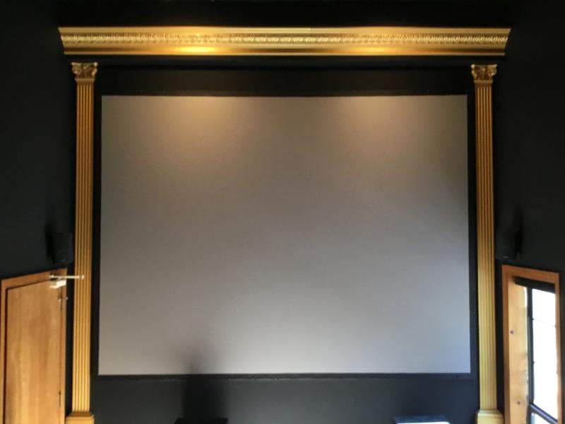Movie Theater 150' silver screen.