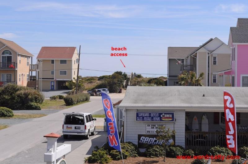 1st Floor View from Deck & Beach Access
