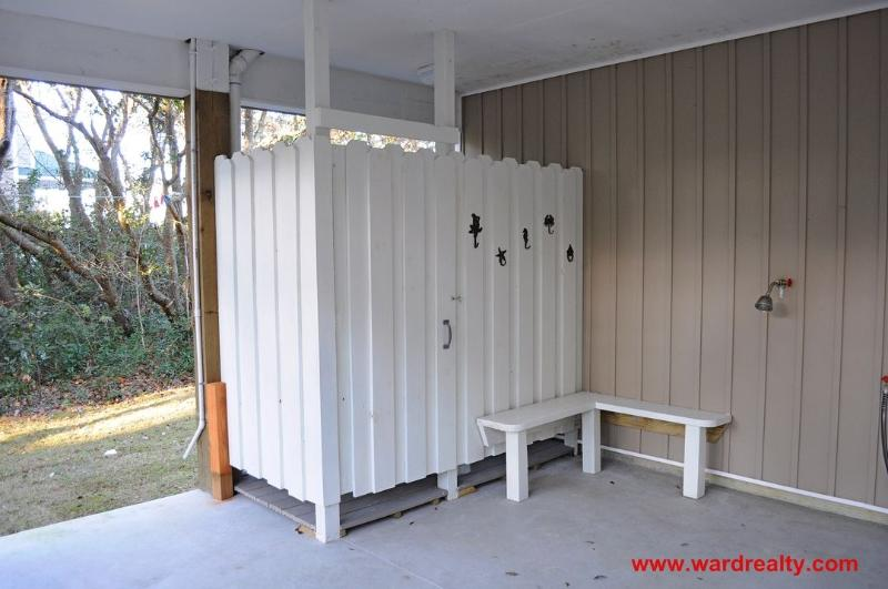 Carport with Outside Shower