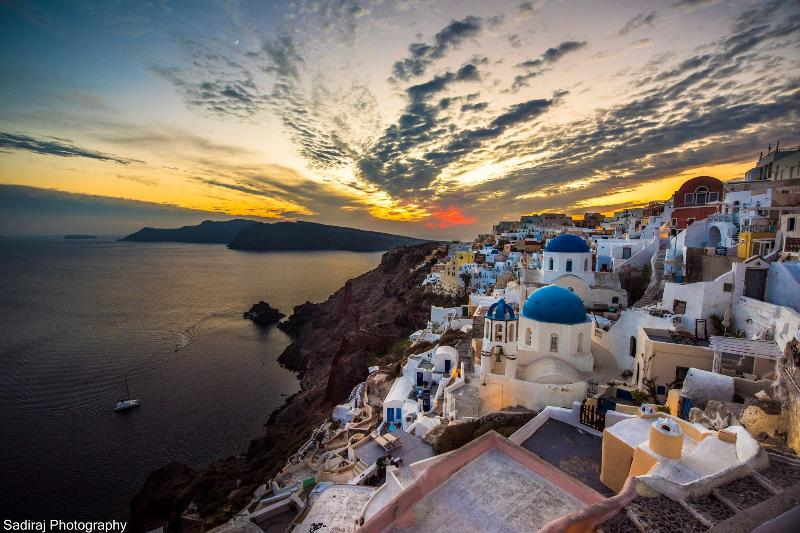 stunning view of Oia and the Caldra from the PINK terrace!