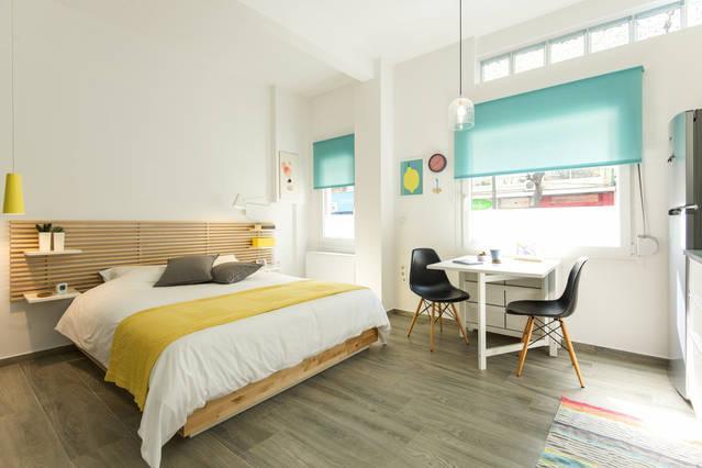 estúdio elegante com cama confortável