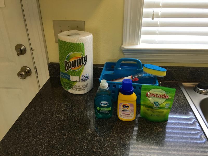 We provide a 'starter kit' cleaning setup