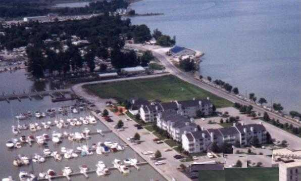 Clinton Reef Club Complex - our building is in the lower right.  Lake Erie upper right