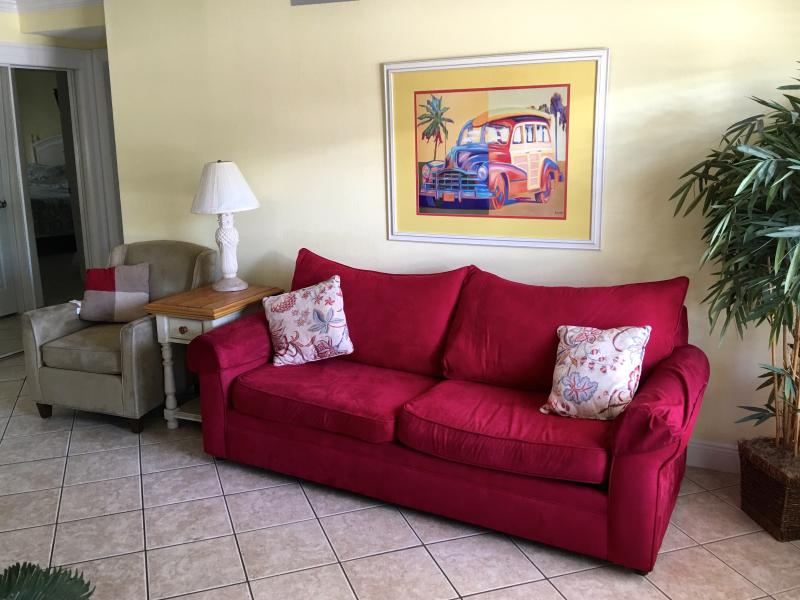 Family room sofa is a queen size sofa/bed