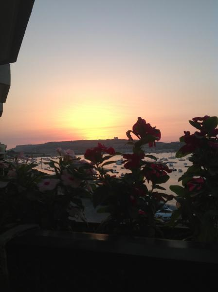 sunset view from terrace