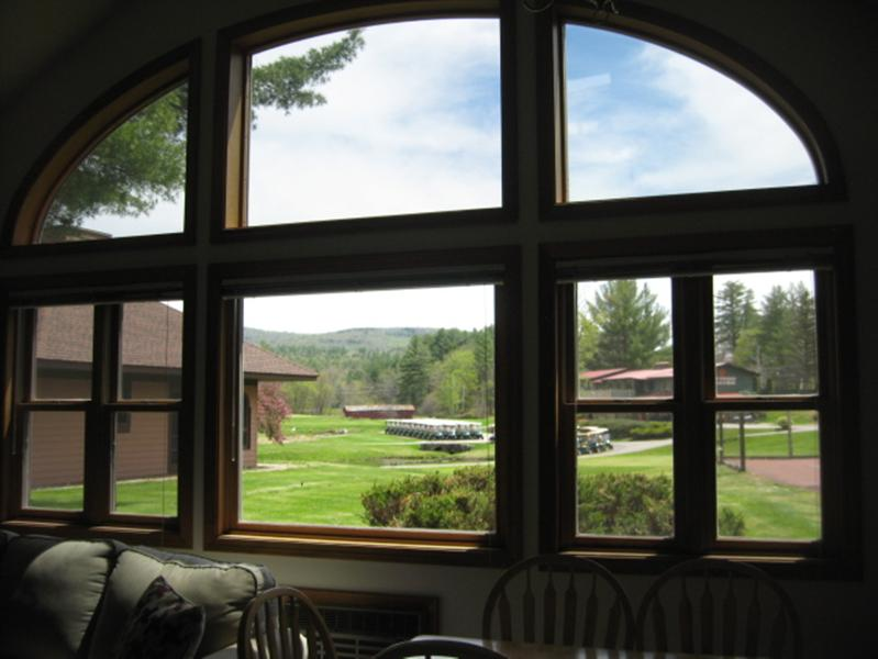 Mountain View, Covered Bridge, and First Hole from Living Room Window