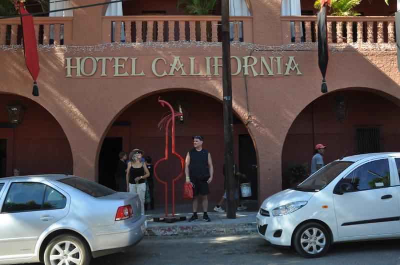 Take an easy drive on a modern hwy to Todos Santos to see this famous hotel. Daily car rental/hotel