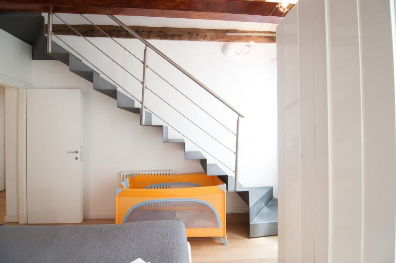 stairs to loft on top bedroom 2