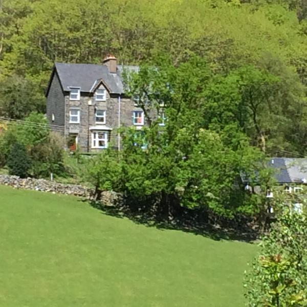 A beautiful day in  July- IsyGraig has south facing views across the valley and over the old village