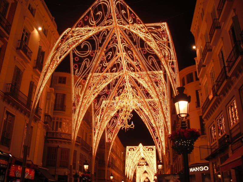 Malaga Christmas lights.