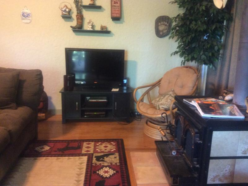Cable tv, wood burning stove for those cold winter nites, and great place to unwind.