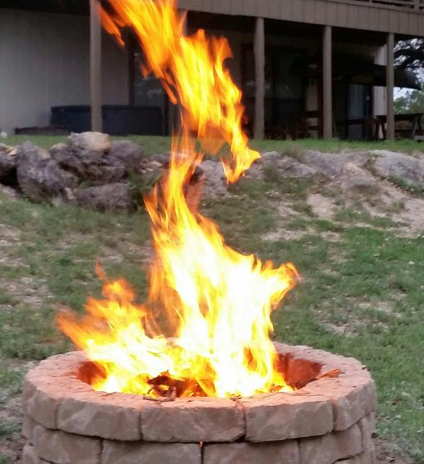 Enjoy a nice campfire in the evening - if there is no burn ban!