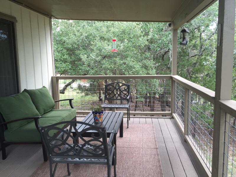Watch the deer from the large deck, enjoy a glass of wine or a good book!
