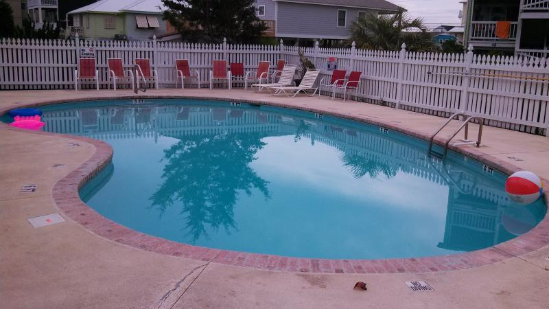 Pool directly across the street. Opens yearly April 15th